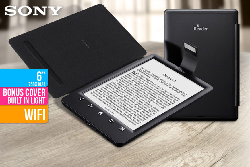 """Sony 6"""" WiFi E-Reader With Case & Light"""