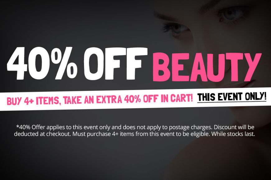 BEAUTY SALE: Buy 4+ Items, Take An Extra 40% Off In Cart