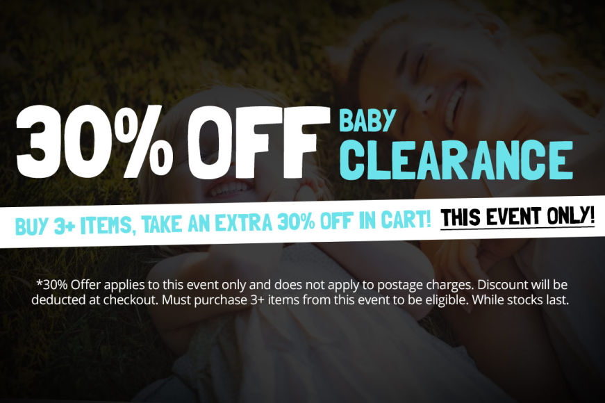 BABY SALE: Buy 3+ Items, Take An Extra 30% Off In Cart