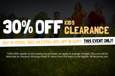 KIDS' SALE: Buy 3+ Items, Take An Extra 30% Off In Cart!