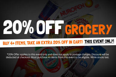 GROCERY SALE: Buy 4+ Items, Take An Extra 20% Off In Cart