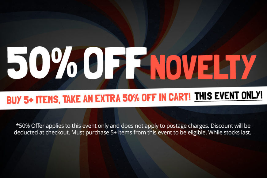 NOVELTY SALE: Buy 5+ Items, Take An Extra 50% Off in Cart