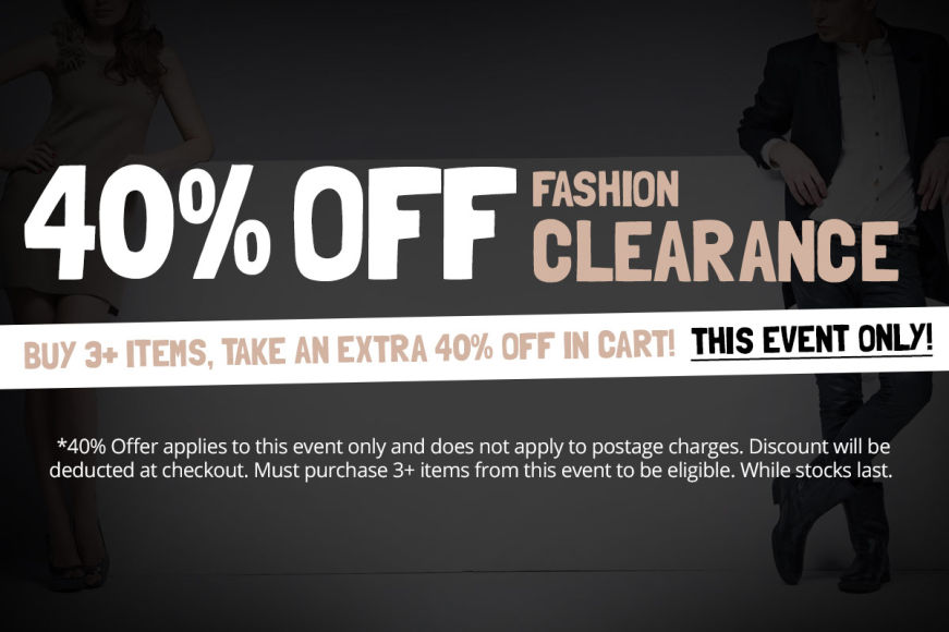 FASHION ACCESSORIES SALE: Buy 3+ Items, Take An Extra 40% Off In Cart