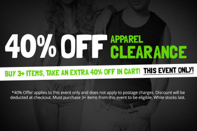 APPAREL SALE: Buy 3+ Items, Take An Extra 40% Off in Cart