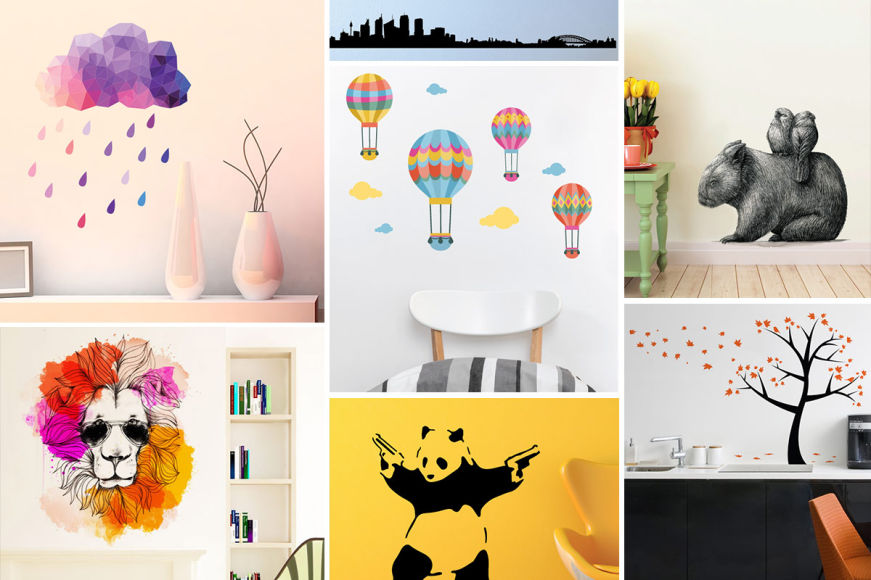 Bright, Colourful & Fun Wall Decals