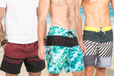 Men's Boardies From Reef, Globe & DC