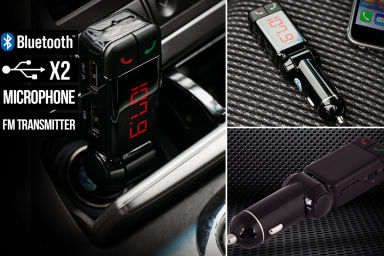 4-In-1 Bluetooth Car Charger