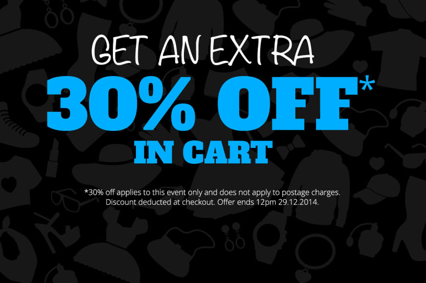 Boxing Day: Get An Extra 30% Off In Cart