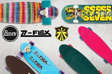 Penny, Z-Flex & Seven Skateboards