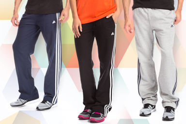 Adidas Three Stripe Fleece Pants