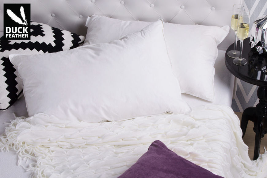 Royal Comfort Duck Feather Pillows 2-Pack