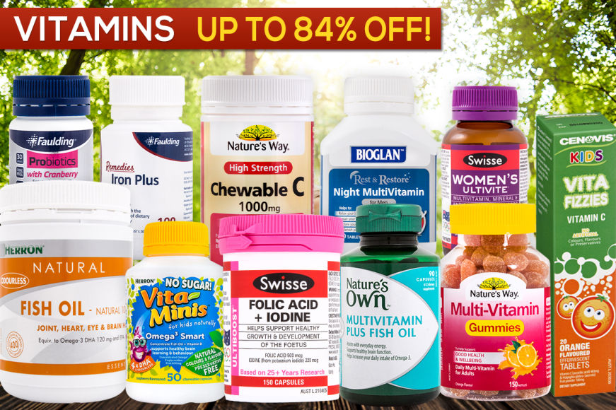 Big Brand Vitamins - Heavily Reduced