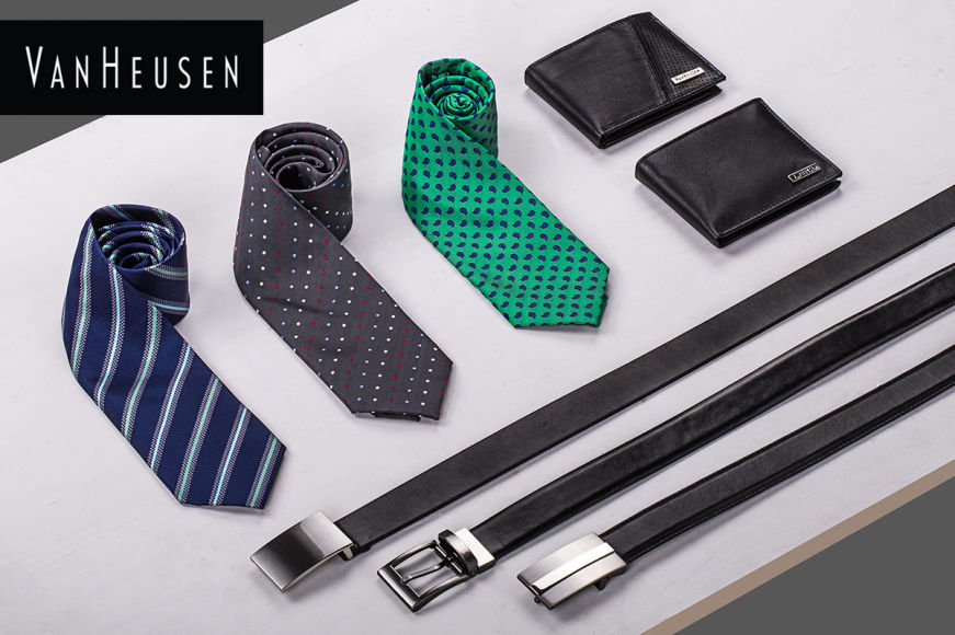 Van Heusen Leather Wallets, Belts & Ties