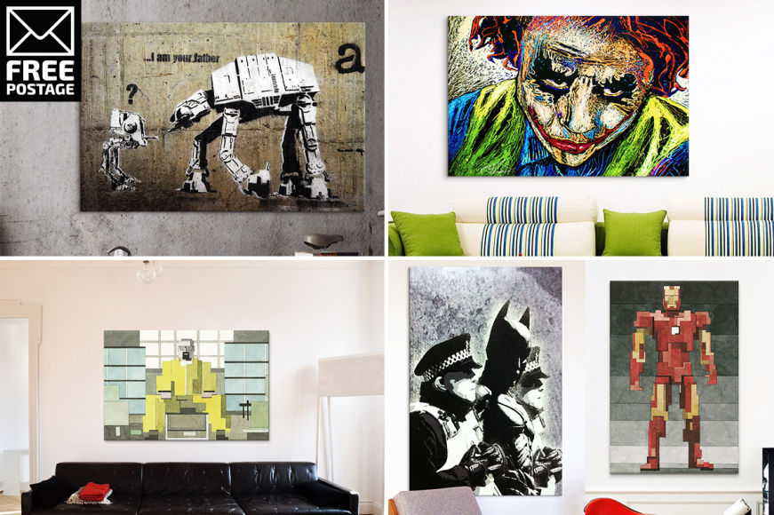 Pop Culture & Sci-Fi Canvas Prints