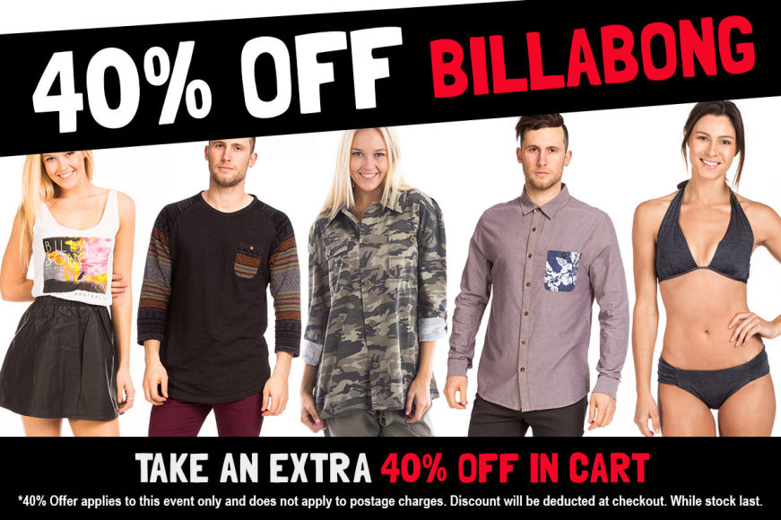 Billabong Clearout - Take 40% Off In Cart
