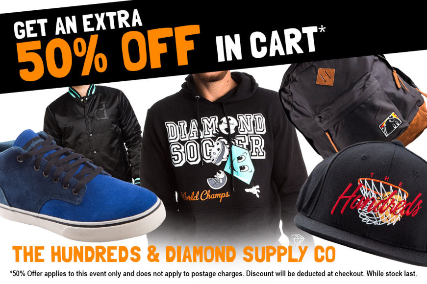 Diamond Supply Co. & The Hundreds Clearance