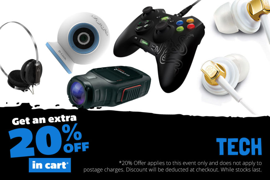 Tech: Get An Extra 20% Off In Cart