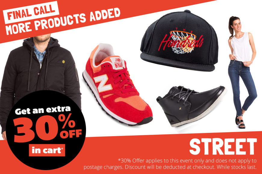 More Added! Streetwear: Get An Extra 30% Off In Cart