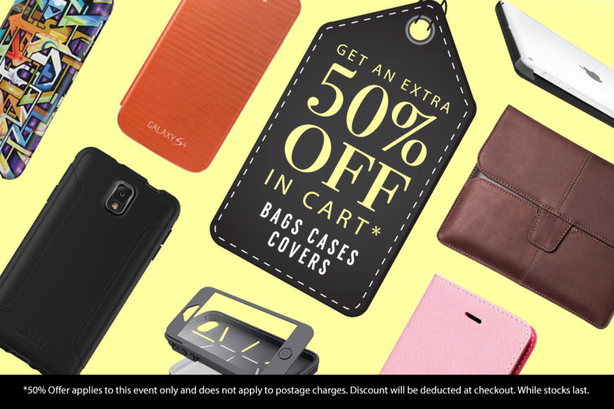 Cases, Covers & Bags: Get An Extra 50% Off In Cart