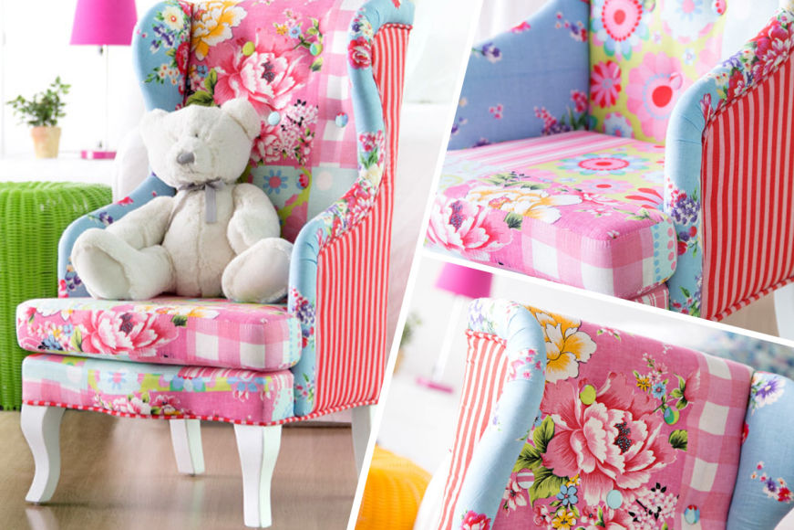 Mini Patchwork Boho Armchair For The Playroom