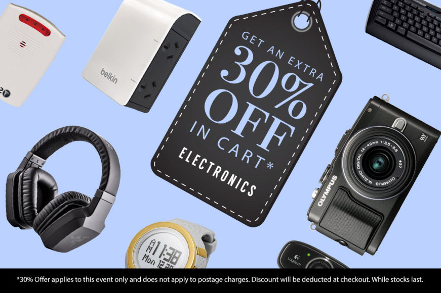 Electronics: Get An Extra 30% Off In Cart