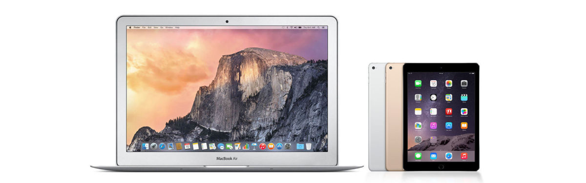 Apple MacBook Air & iPad Mini 3