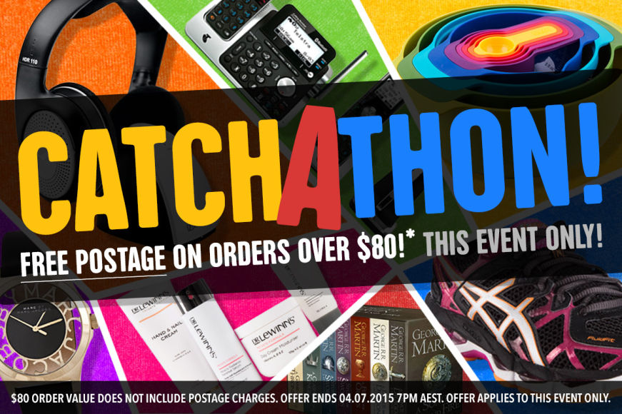CATCHATHON: Free Postage On Orders $80+