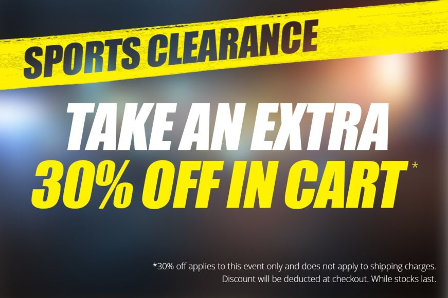 Sports Clearance: Get 30% Off In Cart