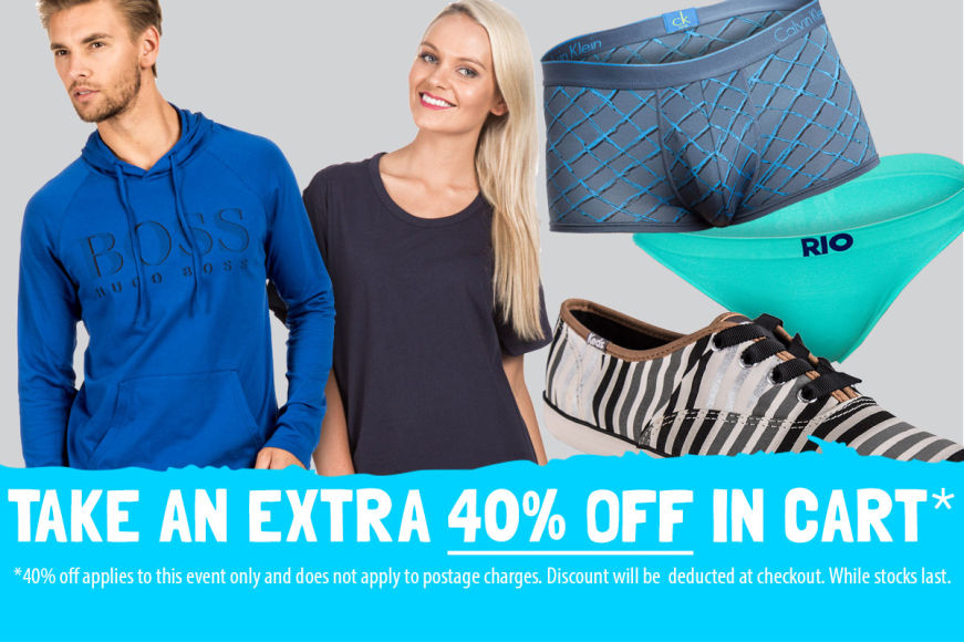Fashion CLEARANCE: Get 40% OFF In Cart