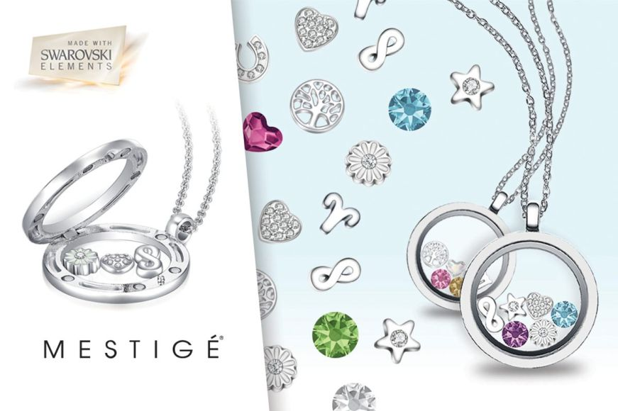 Mestige Zodiac Floating Charm Locket Necklaces