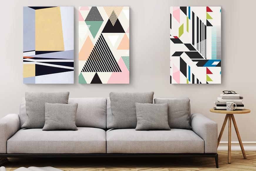 Wall Art Canvasses - Geometrics Collection