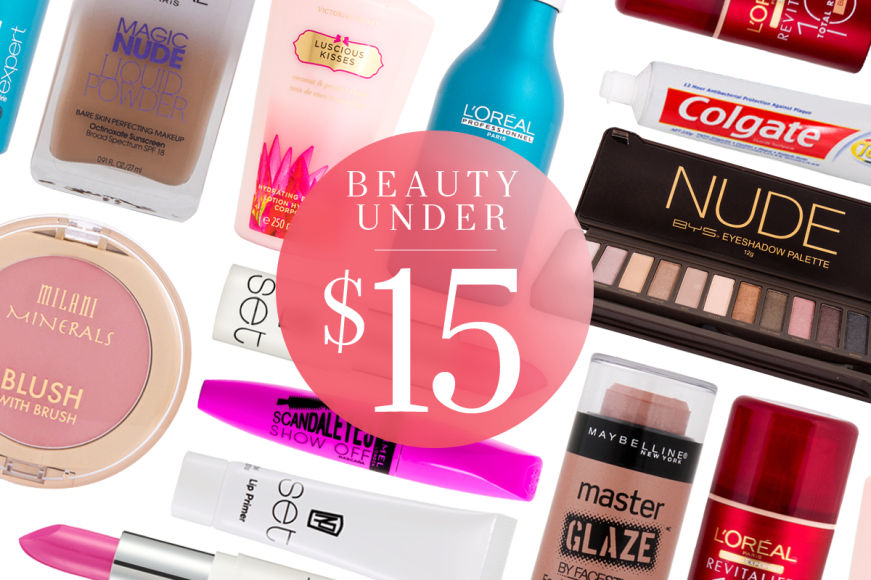 Beauty Bargains Under $15