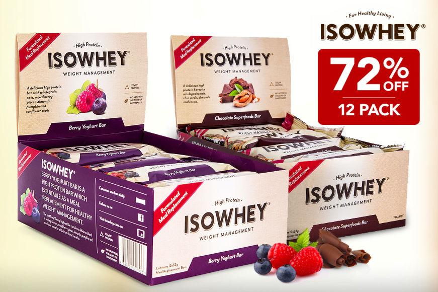72% Off IsoWhey Protein Bars