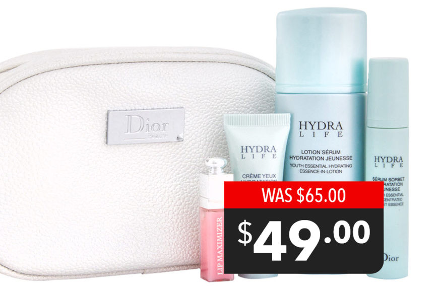 Dior Hydra Life 4-Piece Travel Set - $49!