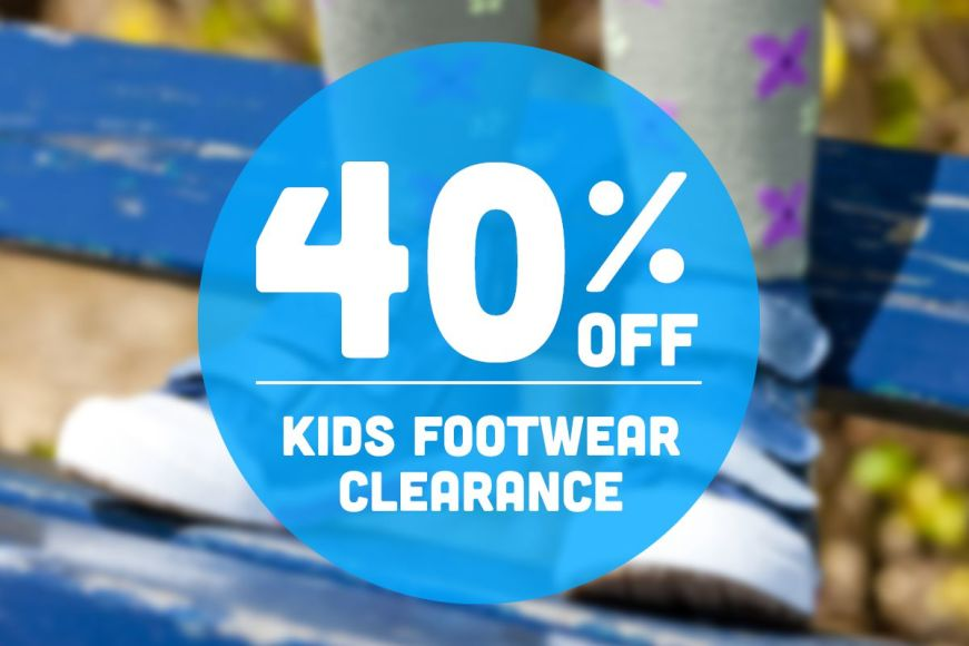 40% OFF: Kids Footwear Clearance