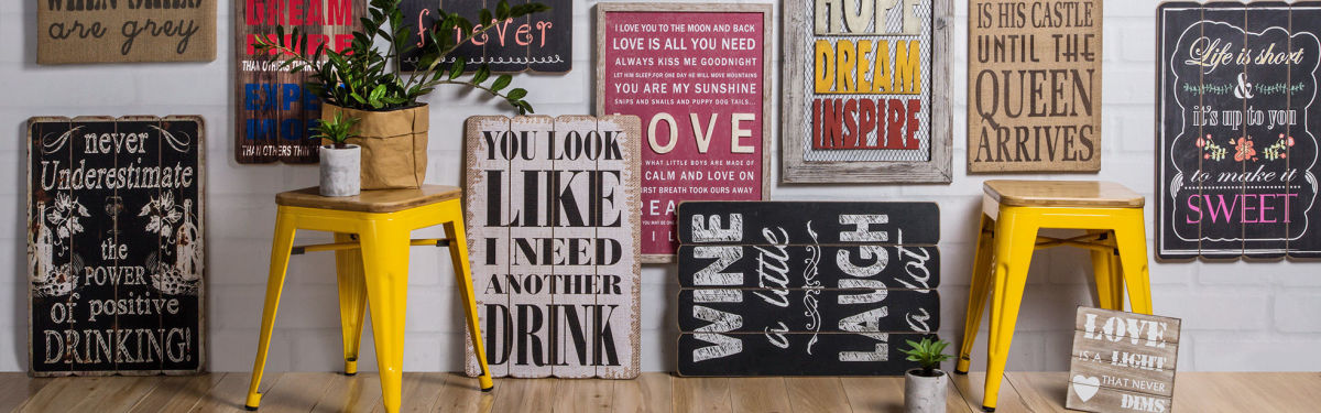Wordy Wall Plaques