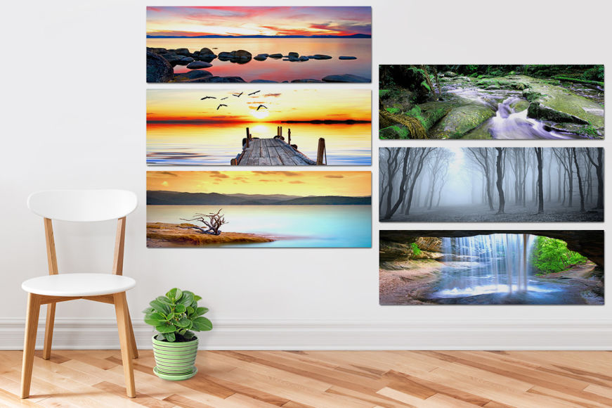 Panoramic Canvas Art Sets