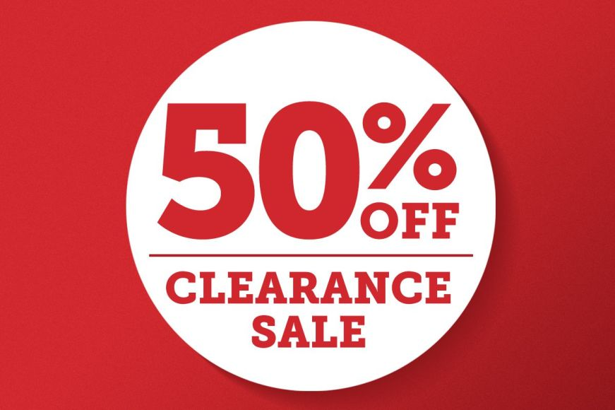 50% Off: Clearance Sale
