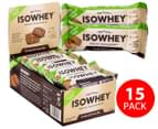 15x IsoWhey Low-Carb Protein Bars Cookies & Cream 35g 1