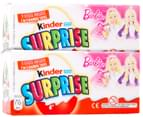 2x Kinder Surprise Eggs Barbie 60g 3pk 4