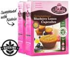 2 x Melinda's Scrumptious Blueberry Lemon Cupcakes 320g 1