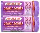 2x Multix Colour Scents Lavender Drawtight Tidy Bags Med 30pk 3