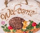 Set Of 2 Hanging 18cm Welcome Signs 2
