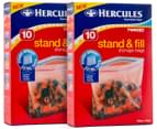 2 x Hercules Twin Zip Stand & Fill Storage Bags 10pk 1