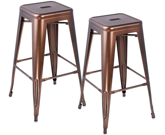 Catchoftheday Com Au Tolix Replica 76cm Steel Bar Stools
