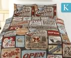 Retro King Quilt Cover Set - Signs 1