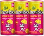 3 x Chewbies Wiggly Bits For Dogs 80g 3