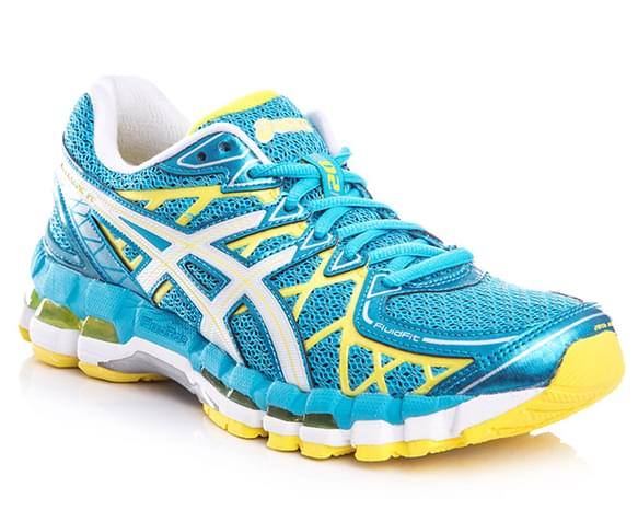 asics gel kayano blue yellow