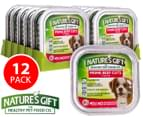 12 x Nature's Gift Prime Beef Cuts In Gravy Trays For Dogs 100g 1