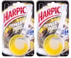 2x Harpic Power Plus Toilet Cage Freshener 34g 1